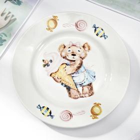 """Тарелка мелкая d=17,5 см """"Медвежата"""", высота 2,6 см, рисунок МИКС"""