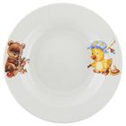 "Тарелка глубокая 20 см ""Утенок, медвежонок"", 250 мл"