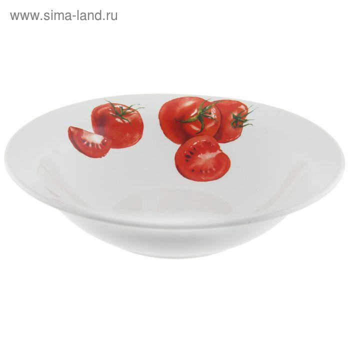 "Салатник 250 мл, d=17,5 см, h=4,8 см ""Овощи"" , рисунок МИКС"