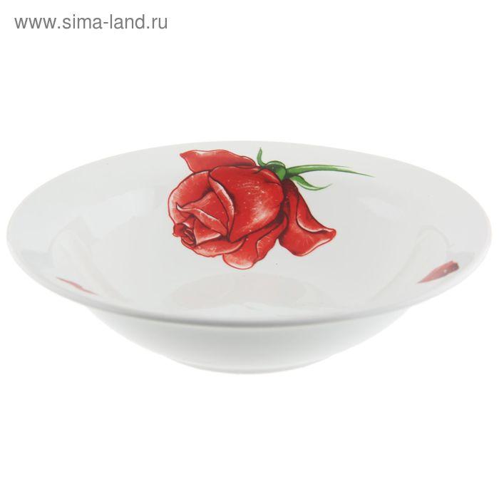 """Салатник 500 мл, d=20,3 см, h=5,5 см """"Розы-5"""""""