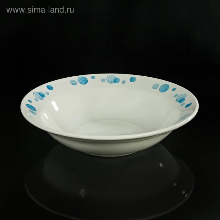 "Салатник 250 мл ""Синий горох"", 17,5 см"