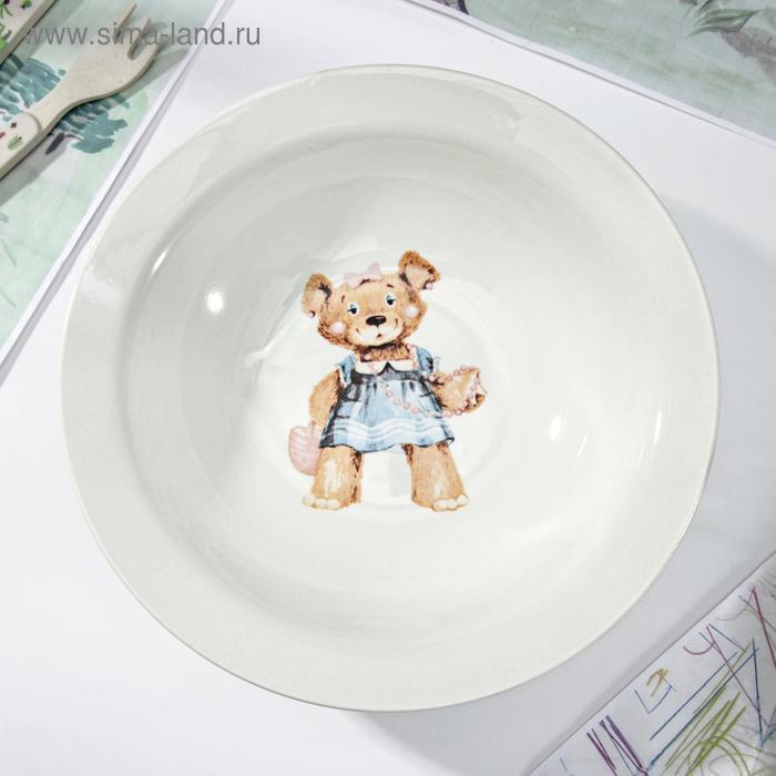 "Салатник 500 мл, d=20,3 см, h=5,5 см ""Медвежата"" , рисунок МИКС"