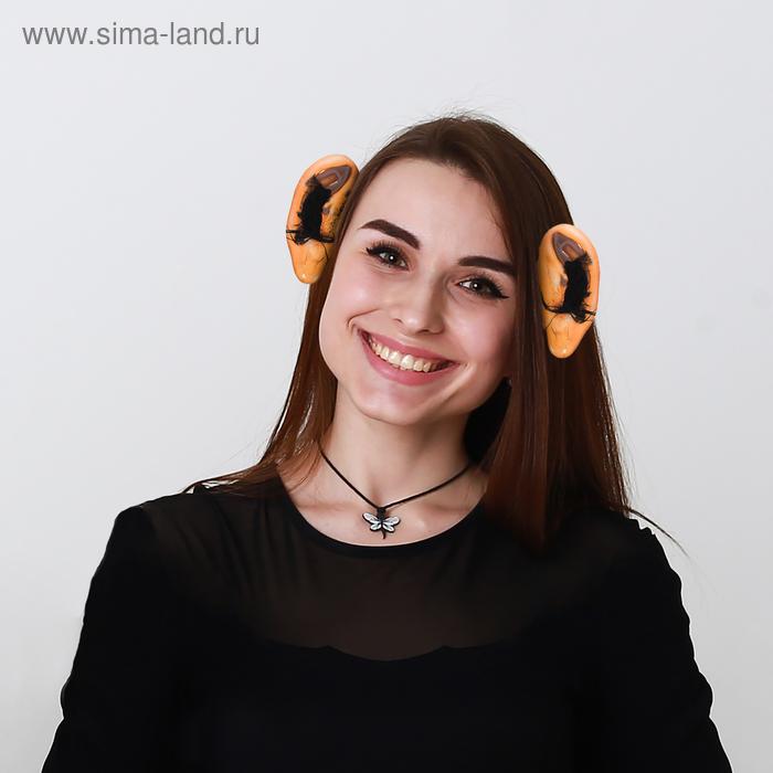 Уши на ободке с волосами