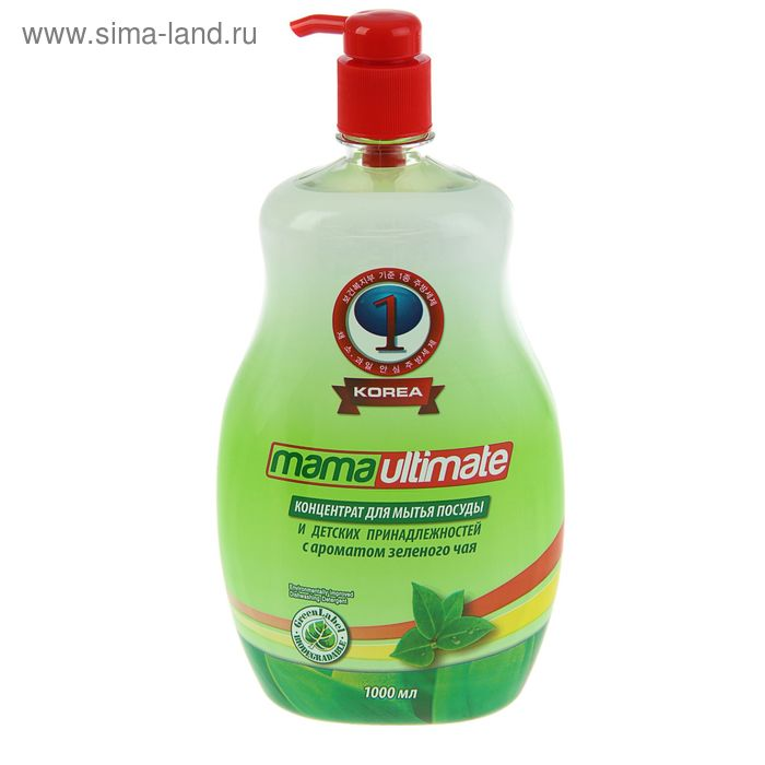 Средство для мытья посуды MamaUltimate ,концентрат Зелёный чай, 1000мл