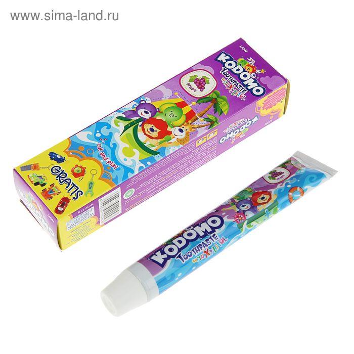 """Зубная паста детская Kodomo """"Grape"""" 45г+игрушка"""