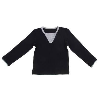 Джемпер для мальчика, рост 122 см, цвет черный И-008