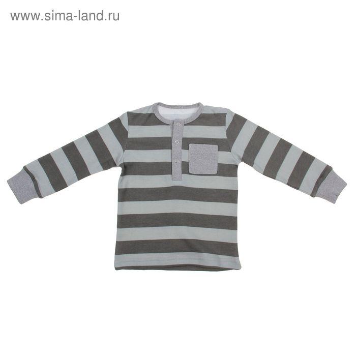 Кофта для мальчика, рост 104 см, цвет серый, принт полоска (арт. И-025)