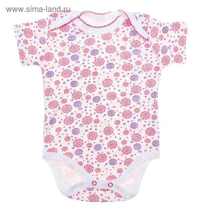 Боди с коротким рукавом для девочки, рост 74 см, цвет микс 20-4714 - С
