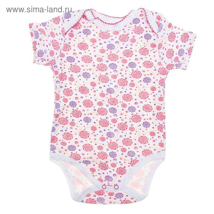 Боди с коротким рукавом для девочки, рост 80 см, цвет микс 20-4714 - С