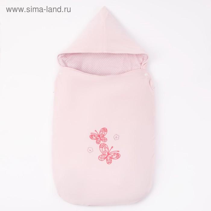 Конверт ясельный утепленный на молнии, цвет светло-розовый 40-8502