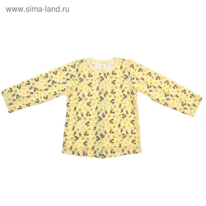 Кофточка на кнопках с длинным рукавом для девочки, рост 74 см, цвет микс 30-4706 - С