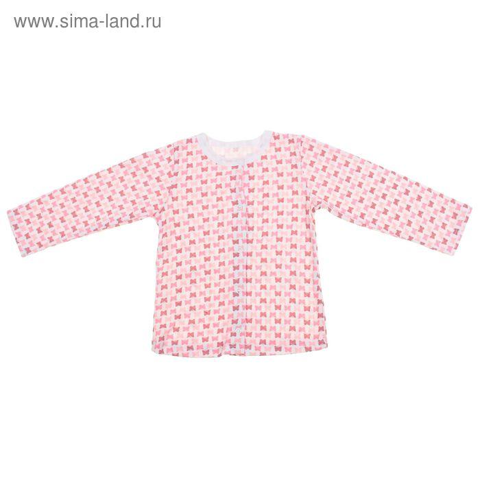 Кофточка на кнопках с длинным рукавом для девочки, рост 68 см, цвет микс 30-4706 - С