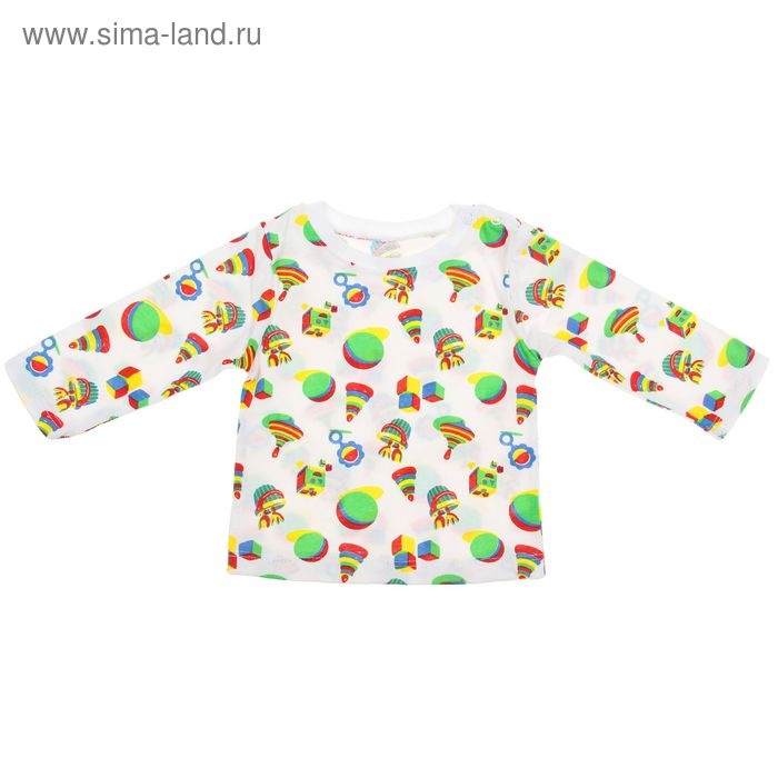 Джемпер с кнопкой для мальчика, рост 68 см, цвет микс 30-4709 - С