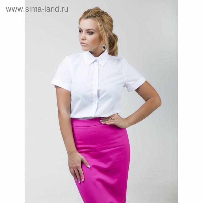 Рубашка женская Collorista с коротким рукавом, размер M (46), цвет белый