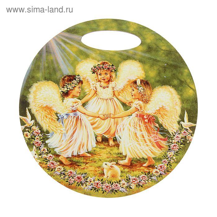 """Доска круглая """"3 ангелочка"""""""