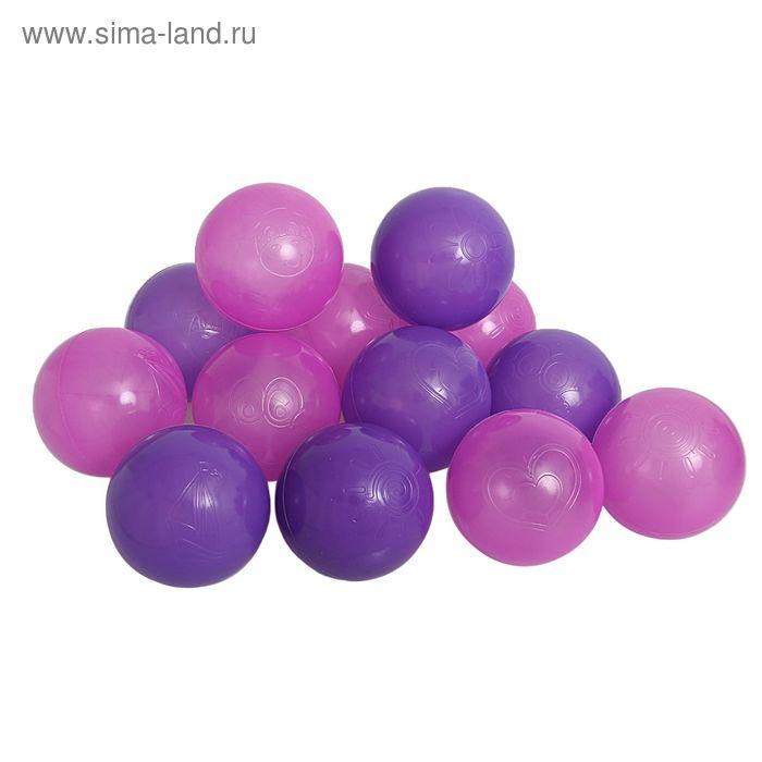 """Шарики для сухого бассейна """"Сливовые"""" с рисунком, диаметр шара 7,5 см, набор 30 шт."""