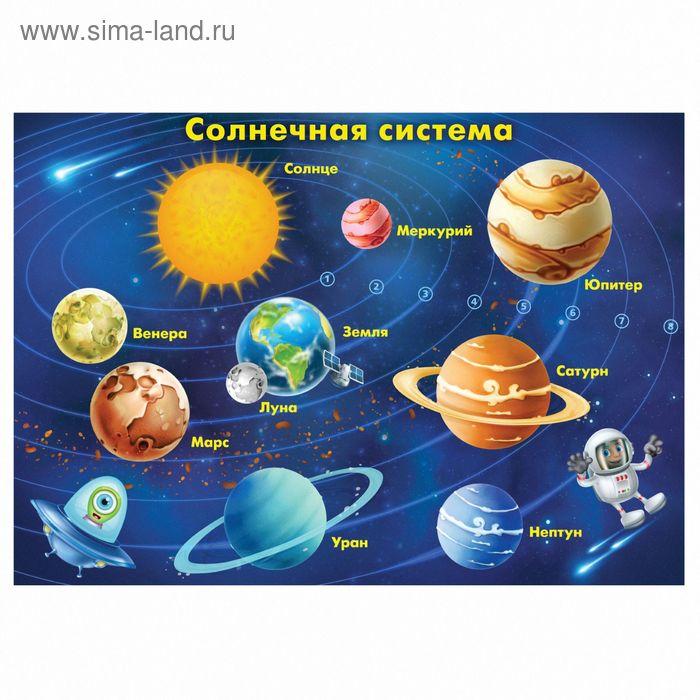 """Плакат обучающий А4 """"Солнечная система"""""""