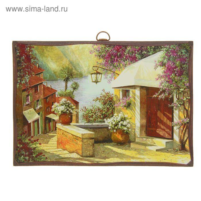 """Картина """"Дом в цветах"""""""