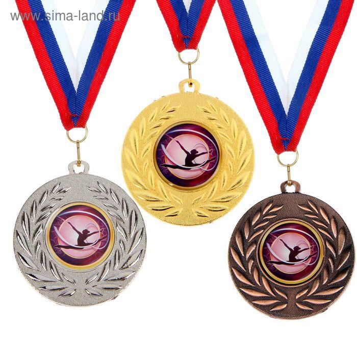 """Медаль тематическая 078 """"Художественная гимнастика"""", цвет золото, диам 5 см"""