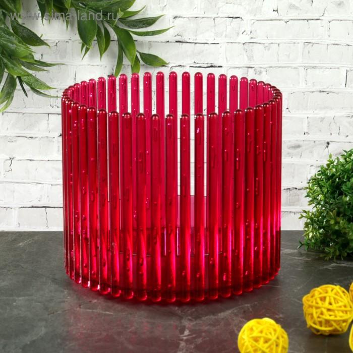 """Кашпо для орхидеи 1,8 л """"Шарм"""", цвет красный"""