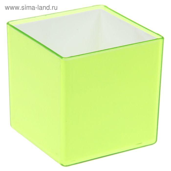 """Кашпо 160 мл """"Мини куб"""", цвет зеленый"""