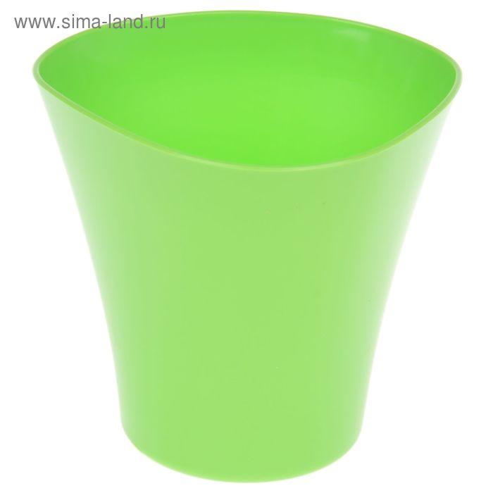 """Кашпо 3 л """"Волна"""", цвет зеленый"""