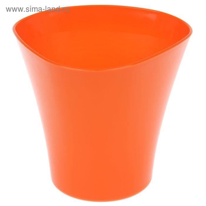 """Кашпо 3 л """"Волна"""", цвет оранжевый"""
