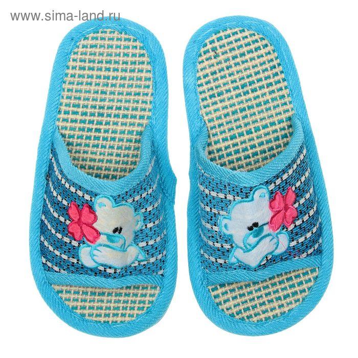Туфли домашние открытые для девочки, размер 34-35. цвет МИКС