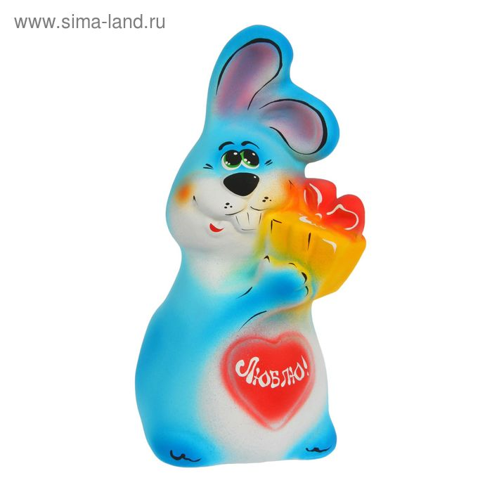 """Копилка """"Кролик с подарком"""""""