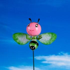 """Декор садовый """"Улыбающаяся пчёлка"""" штекер 40 см, микс"""