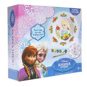 """Набор для росписи керамической тарелки """"Disney. Холодное сердце: Эльза"""""""