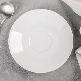 Блюдце кофейное 11,5 см 'Мокко', цвет белый Ош