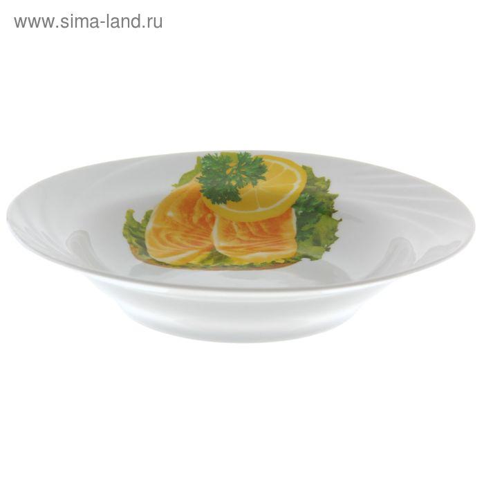 """Тарелка 230 мл """"Бутерброды"""", d=20 см, глубокая"""