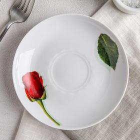 Блюдце 15 см 'Королева цветов' Ош
