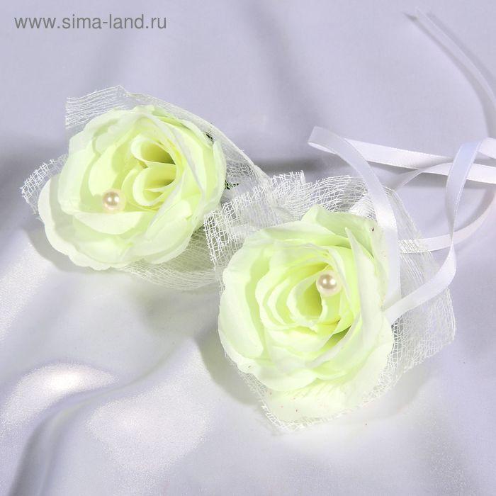Набор роз для украшения свадебного авто, цвет слоновая кость