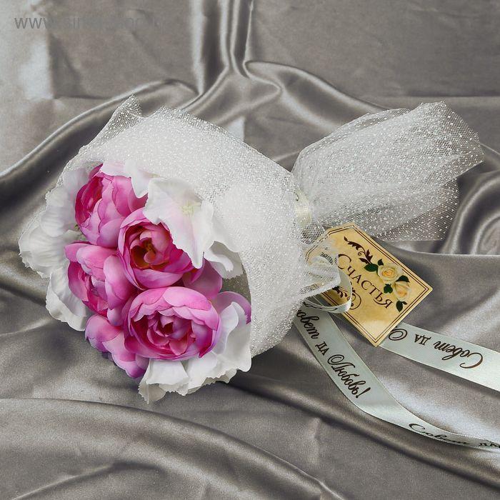 """Букет-дублер """"Прованс"""" чайные розы, гортензии"""