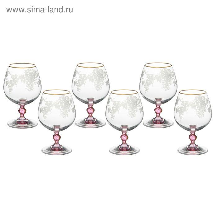 "Набор бокалов для бренди 300 мл ""Люция. Розовая лоза"", 6 шт"