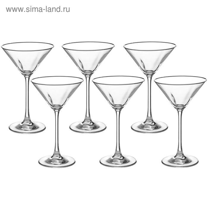 """Набор бокалов для мартини 180 мл """"Эсприт. Платиновая отводка"""", 6 шт"""