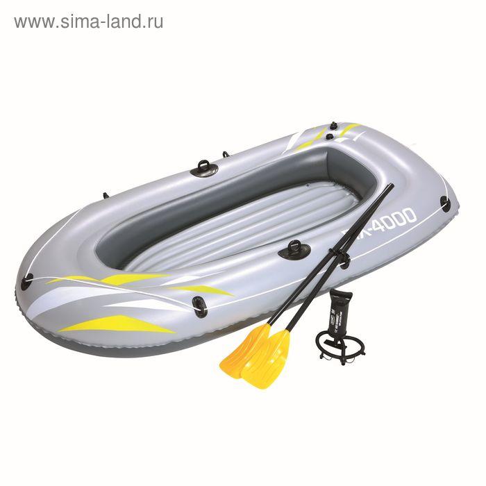 Надувная лодка 223х110 см с вёслами и насосом (61107)