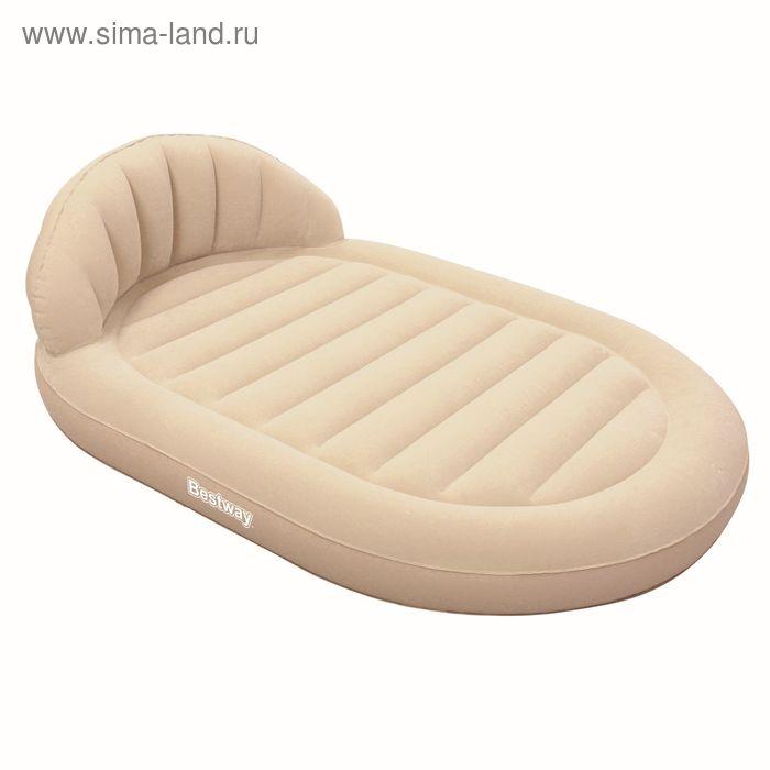 Надувная кровать овальная с изголовьем, размер 215х152х60 см (67397) Bestway
