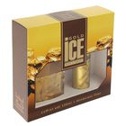 Подарочный парфюмерный набор для мужчин Ice Gold: туалетная вода, 100 мл + дезодорант, 75 мл