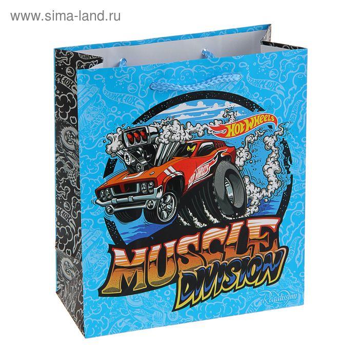"""Пакет подарочный """"Горячие колеса"""" 18х21 см, Mattel Hot Wheels"""