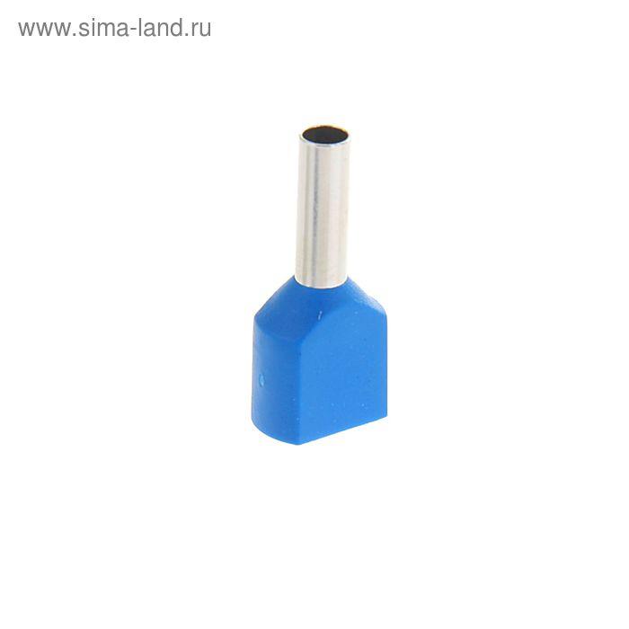 Набор наконечников втулочных НШВИ (2), под два провода сечение 2.5 мм2, контакт 10 мм, 100 шт 130441