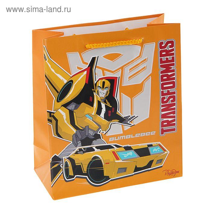 """Пакет подарочный """"Трансформеры"""" 18х21 см, Hasbro Transformers"""
