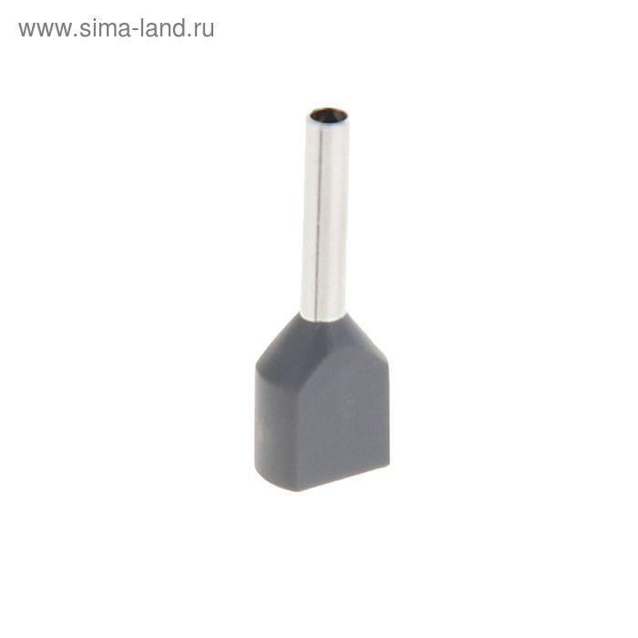 Набор наконечников втулочн под два провода сечением 0,75 мм, контакт 10 мм, НШВИ (2) (100шт)