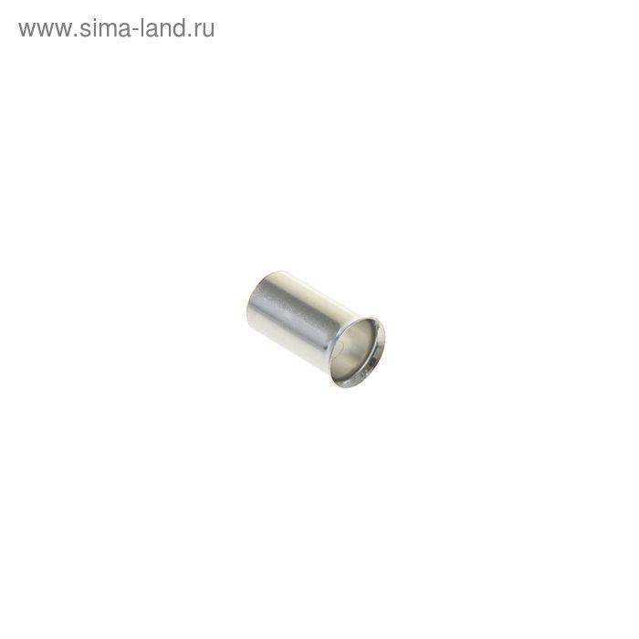 Наконечник втулочный под один провод сечением 10 мм, контакт 12 мм, без изоляции, НШВ