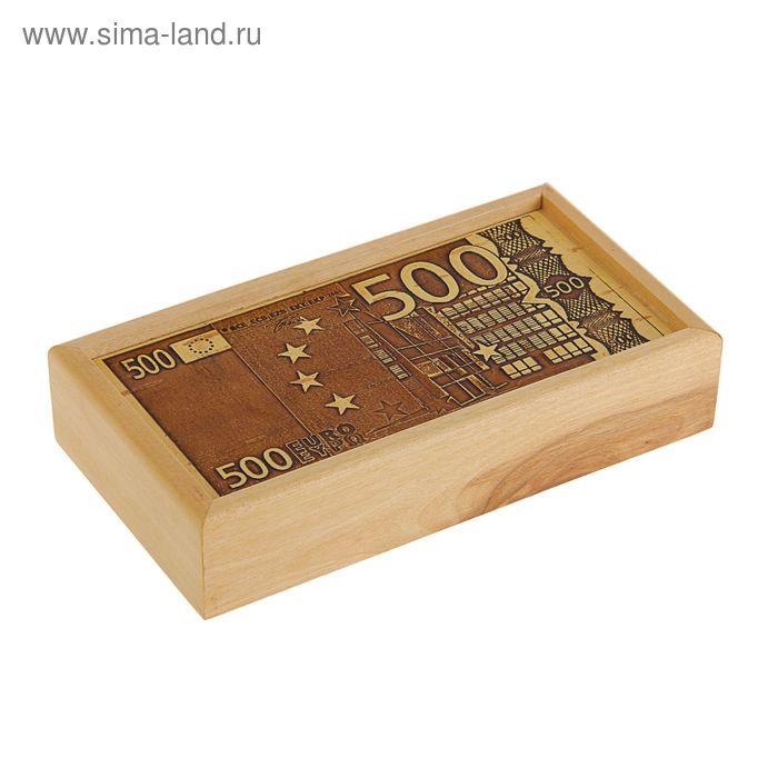 Шкатулка - купюрница «Евро», 17х9х3,5 см