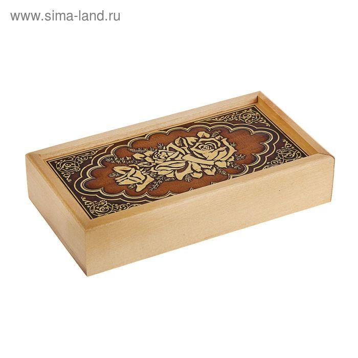 Шкатулка - купюрница «Розы», 17х9х3,5 см