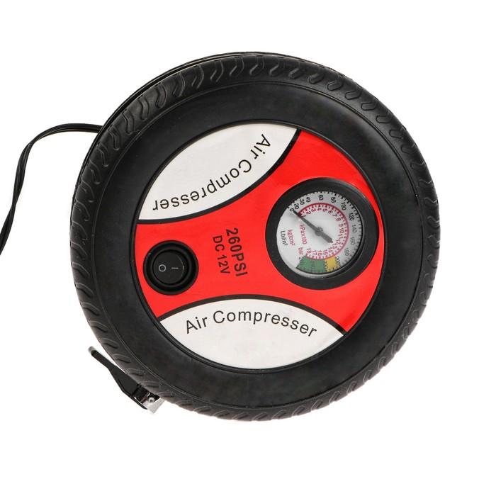 Компрессор автомобильный TORSO, 10 А, 18 л/мин, провод 3 м, шланг 50 см