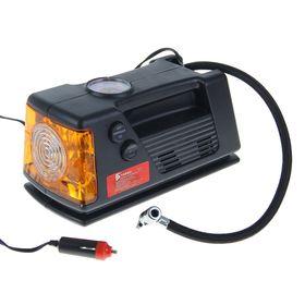 Компрессор автомобильный TORSO TK-112, 10 А, 18 л/мин, жёлтый фонарь, провод 3 м, шланг 65см